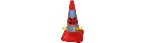 Cone r tro reflechissant classe 2 police municipale intersignaletic - Cone de lubeck ...