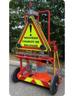 Chariot de Balisage d'urgence support dévidoir