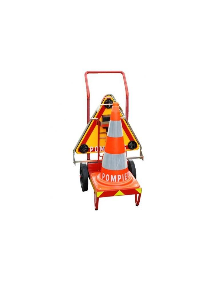 Chariot de balisage d 39 urgence intersignaletic - Cone de lubeck ...