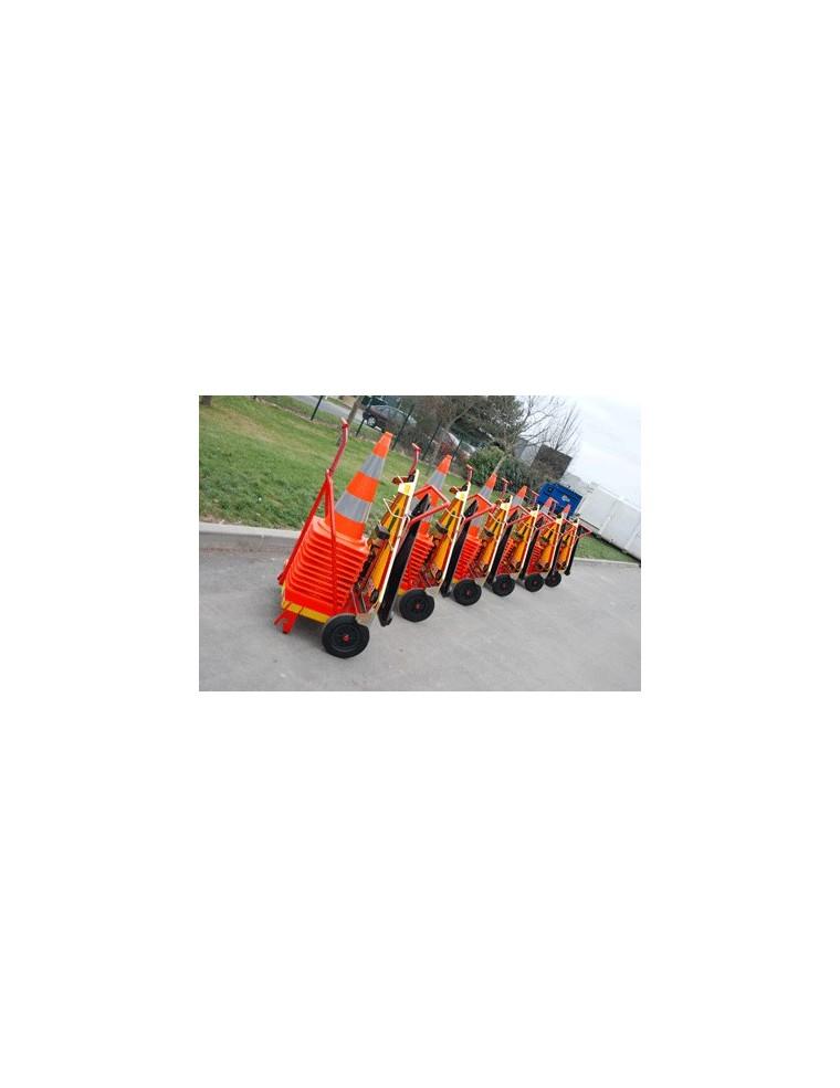 Chariot de signalisation support d vidoir intersignaletic - Cone de lubeck ...